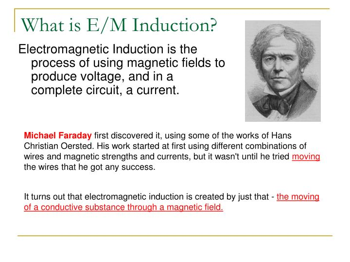What is e m induction