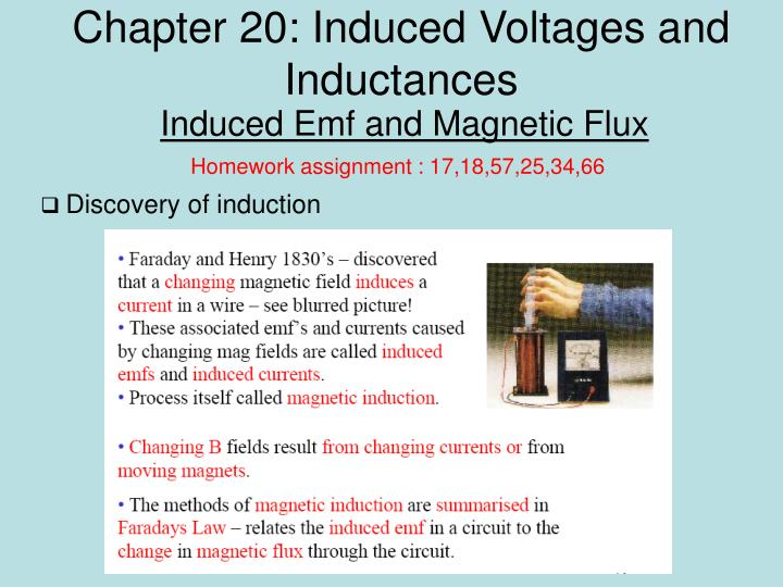 Chapter 20 induced voltages and inductances