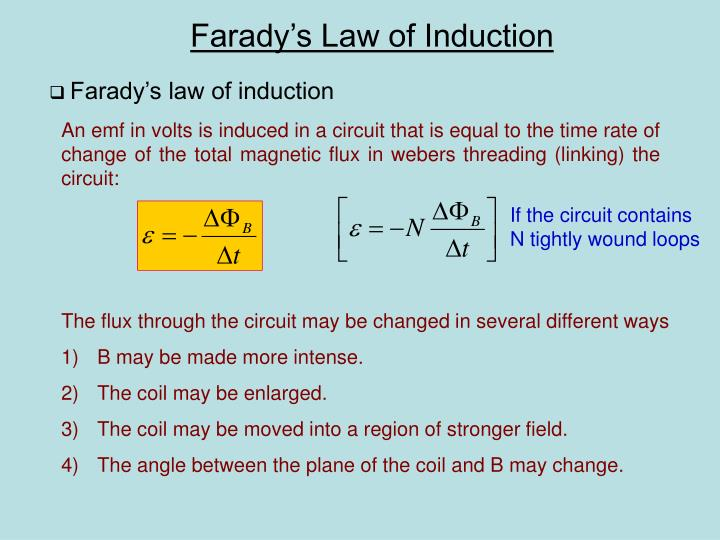 Farady s law of induction