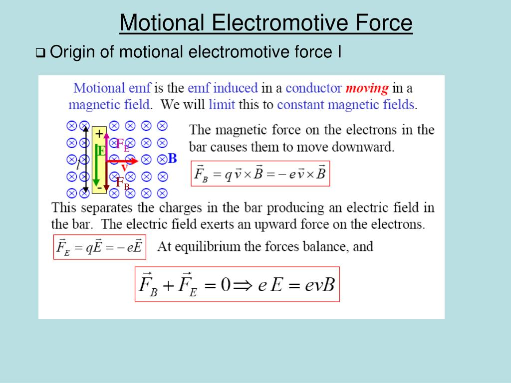 Origin of motional electromotive force I