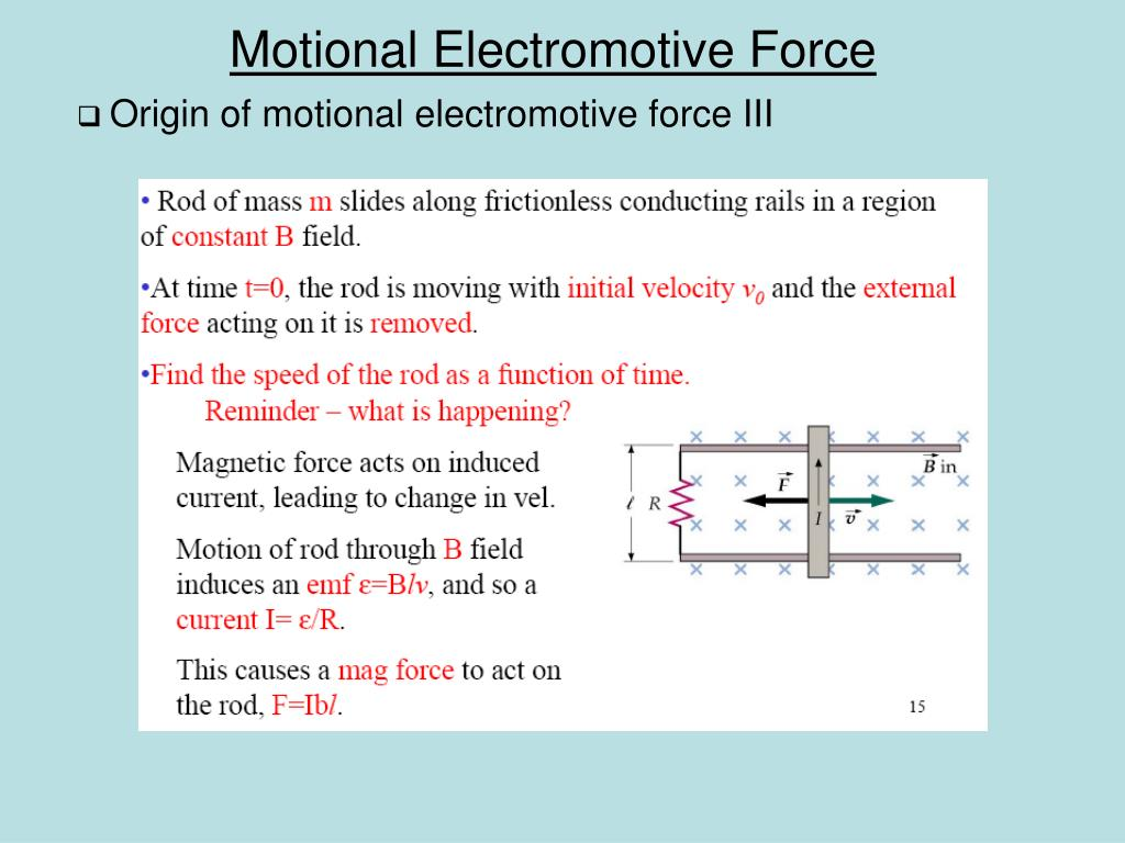 Origin of motional electromotive force III