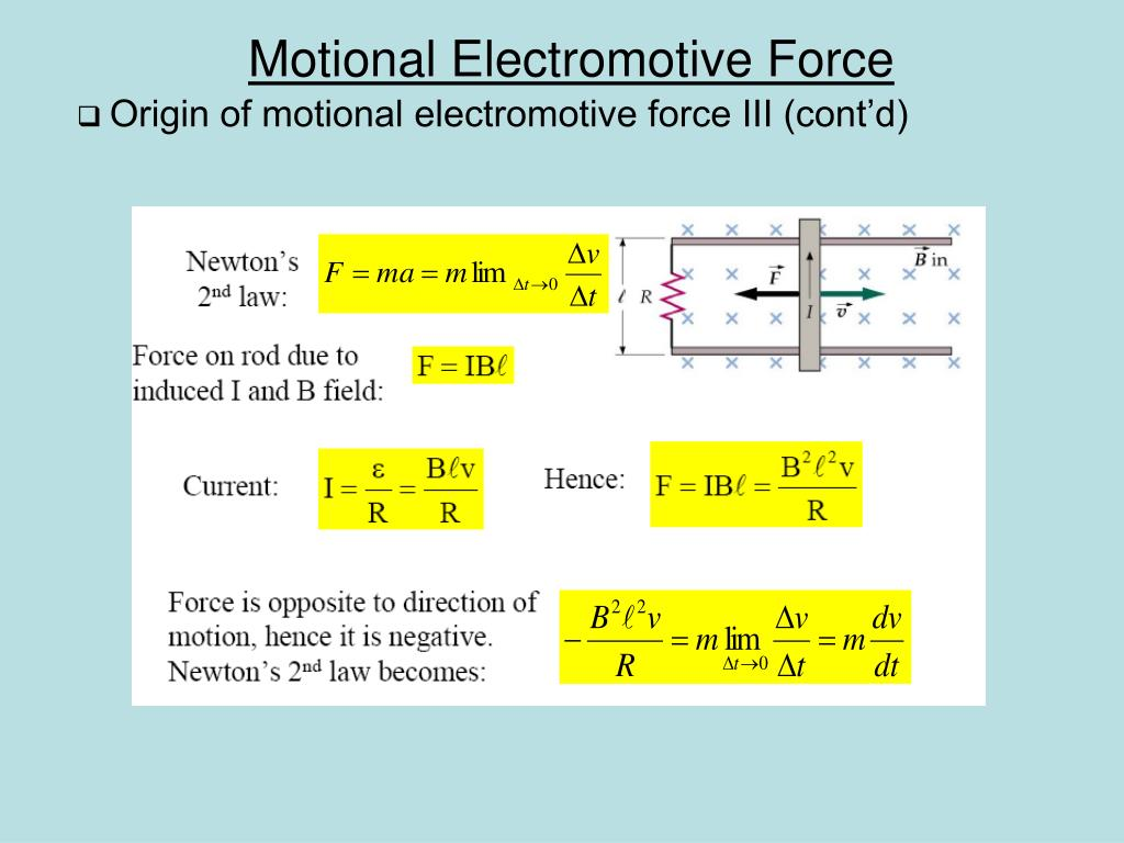 Origin of motional electromotive force III (cont'd)