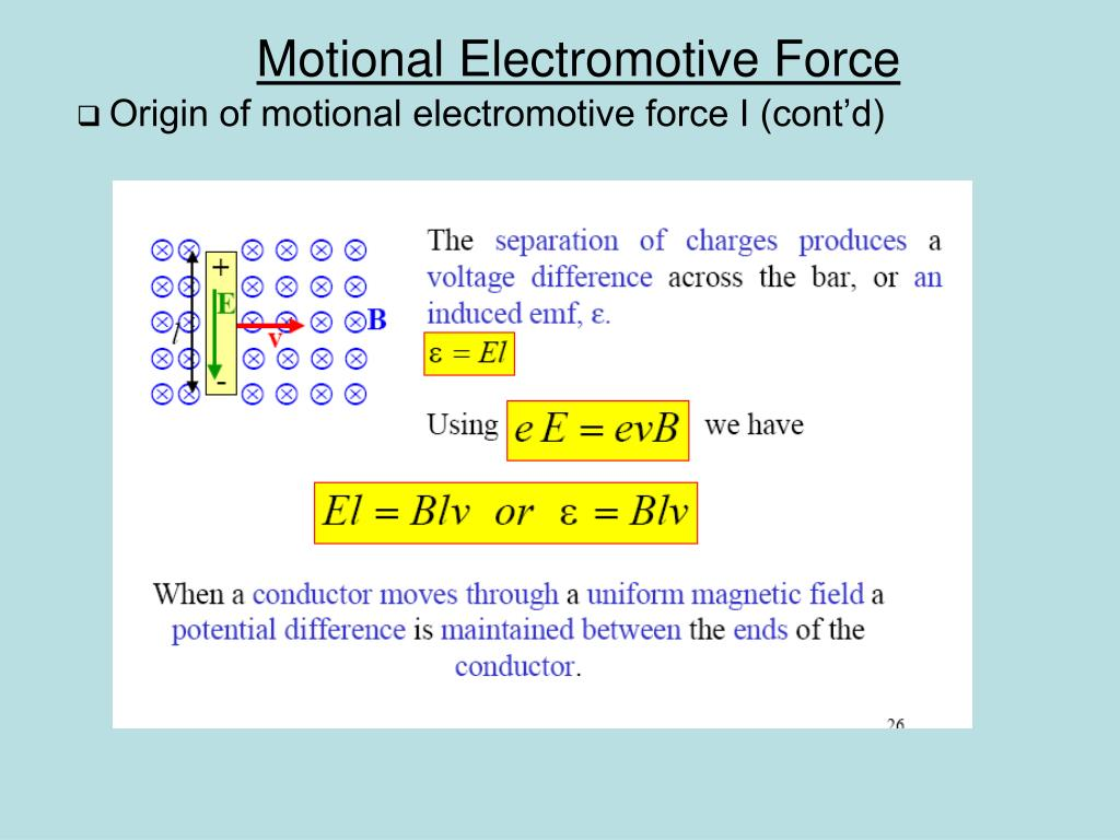 Origin of motional electromotive force I (cont'd)