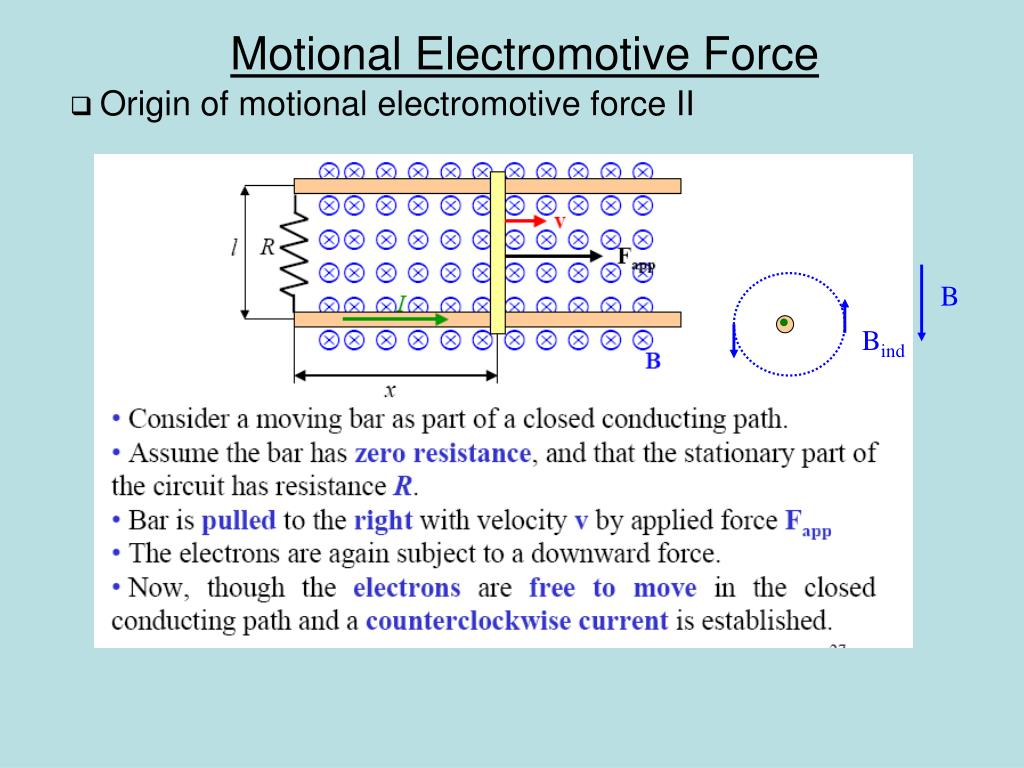 Origin of motional electromotive force II