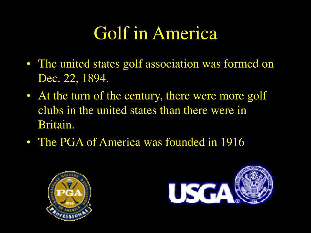 Golf in America