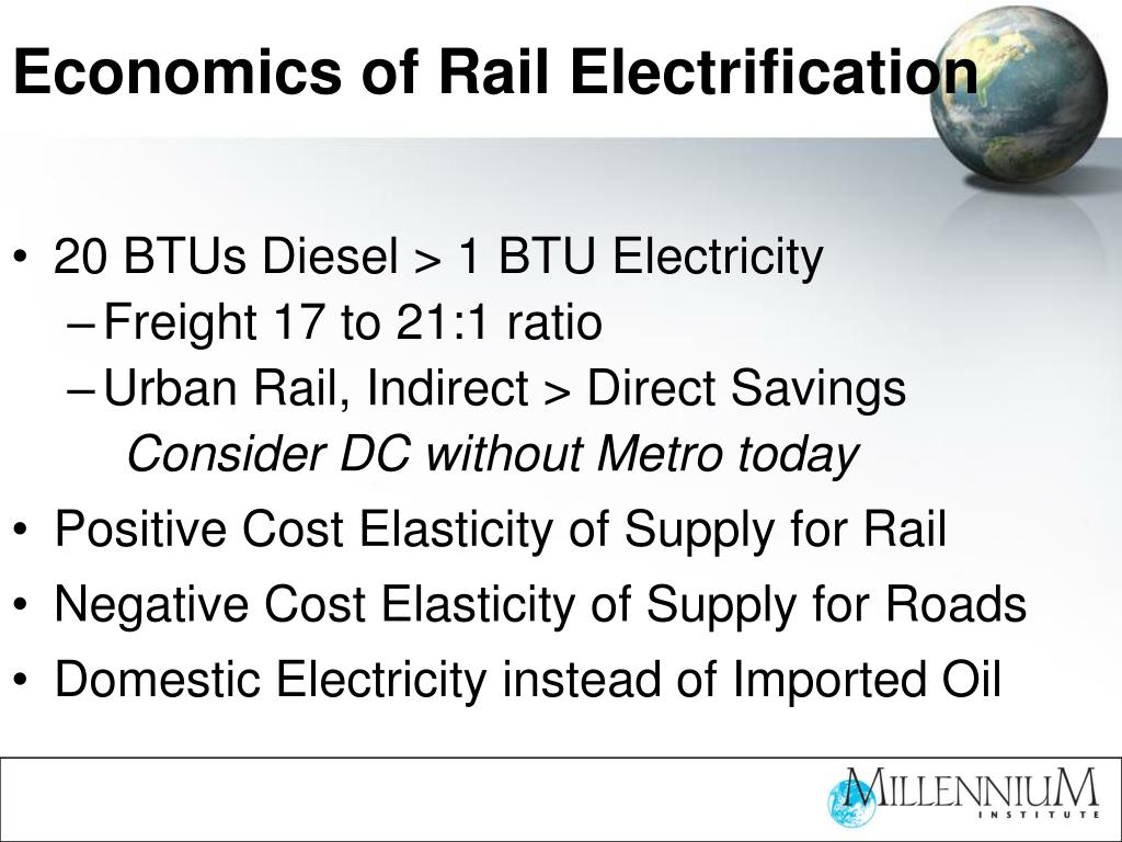 Economics of Rail Electrification