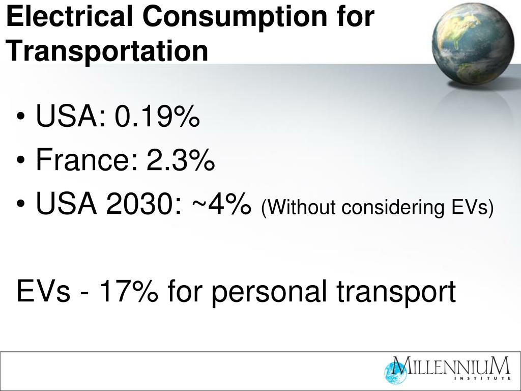 Electrical Consumption for Transportation