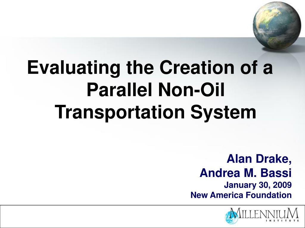 Evaluating the Creation of a Parallel Non-Oil