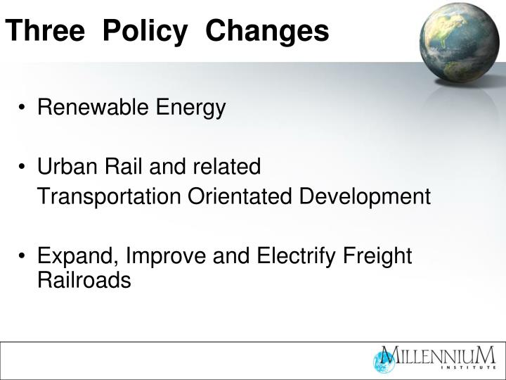 Three policy changes l.jpg