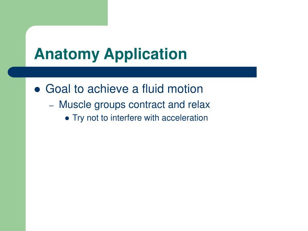 Anatomy Application