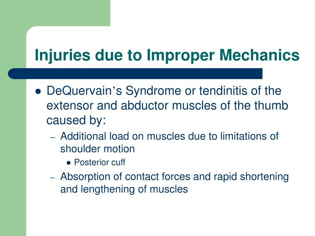 Injuries due to Improper Mechanics