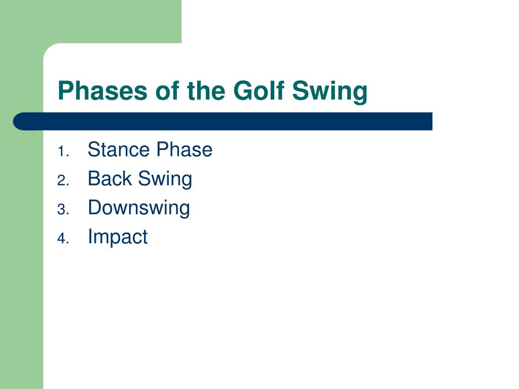 Phases of the Golf Swing
