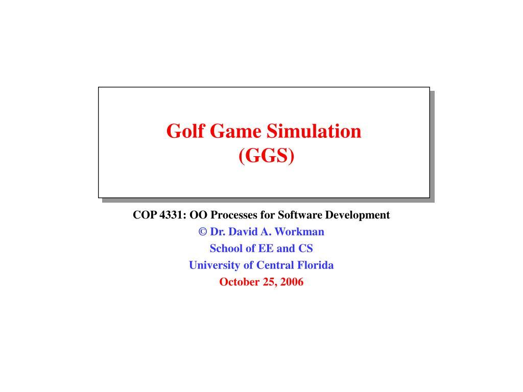 golf game simulation ggs