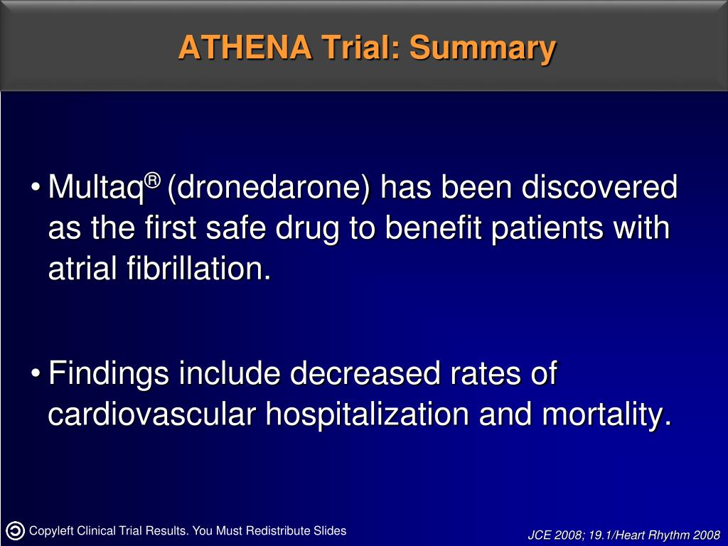 ATHENA Trial: Summary