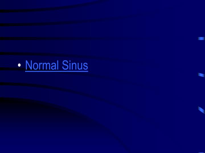 Normal Sinus