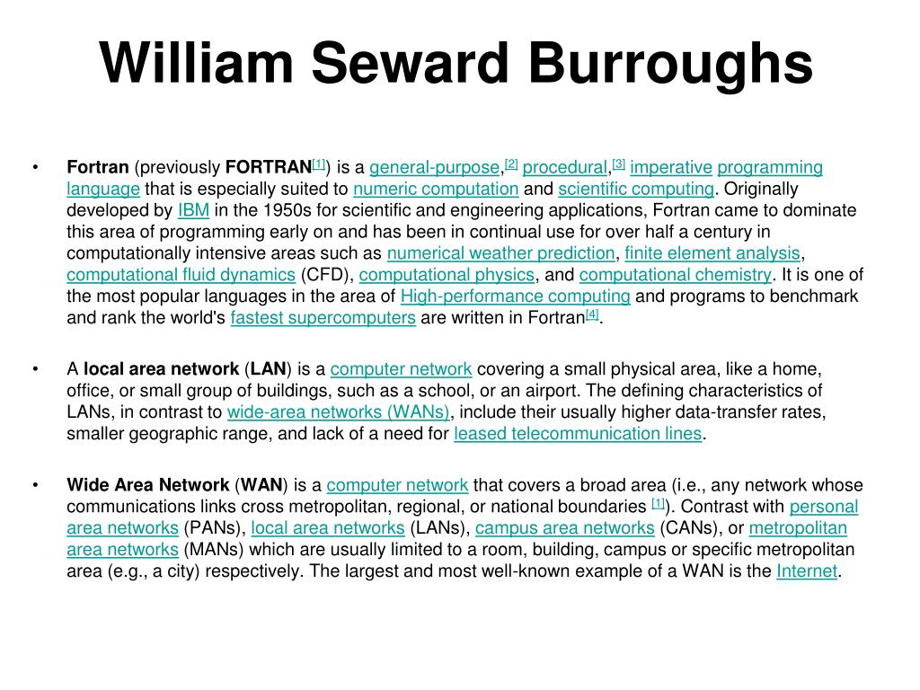 William Seward Burroughs