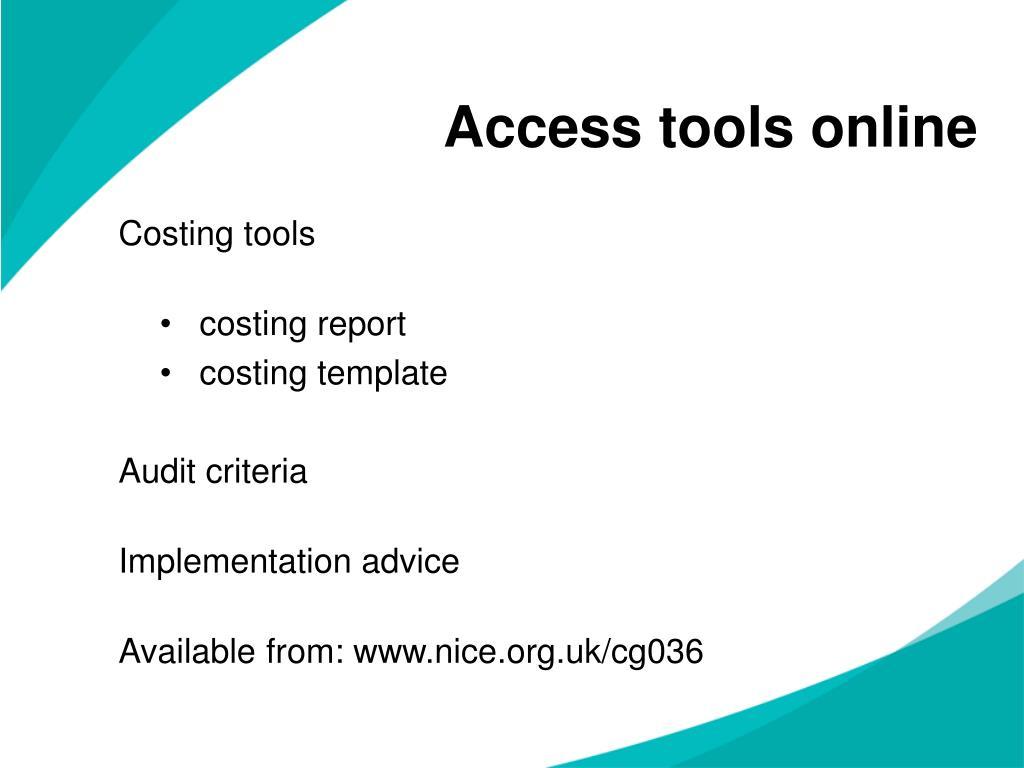 Access tools online