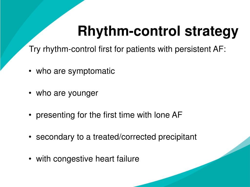 Rhythm-control strategy