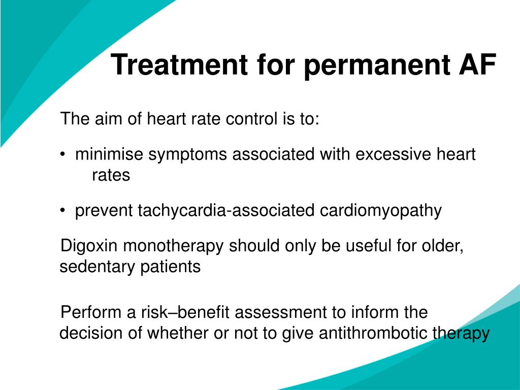 Treatment for permanent AF