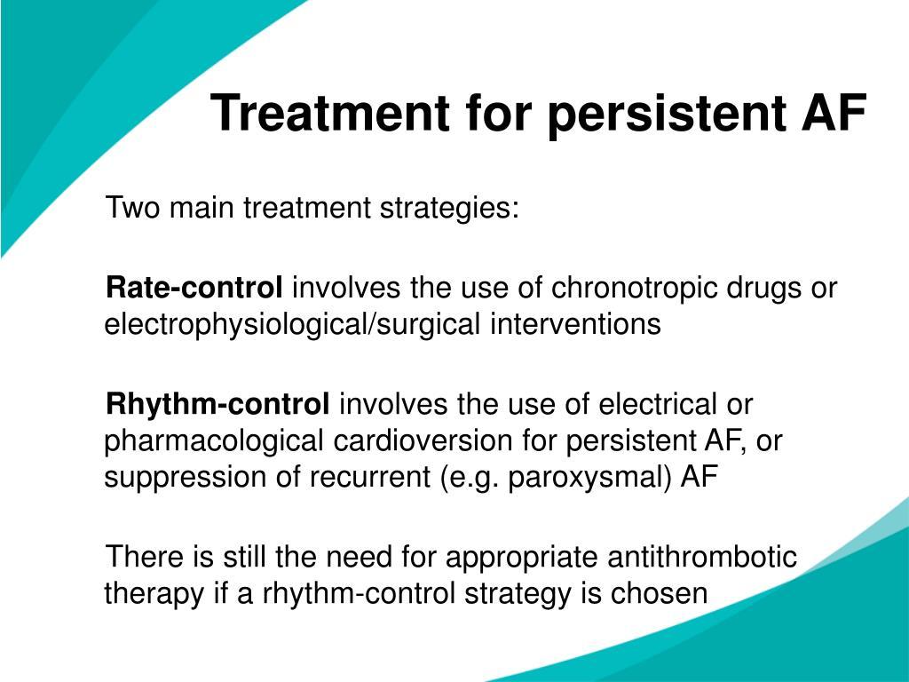 Treatment for persistent AF