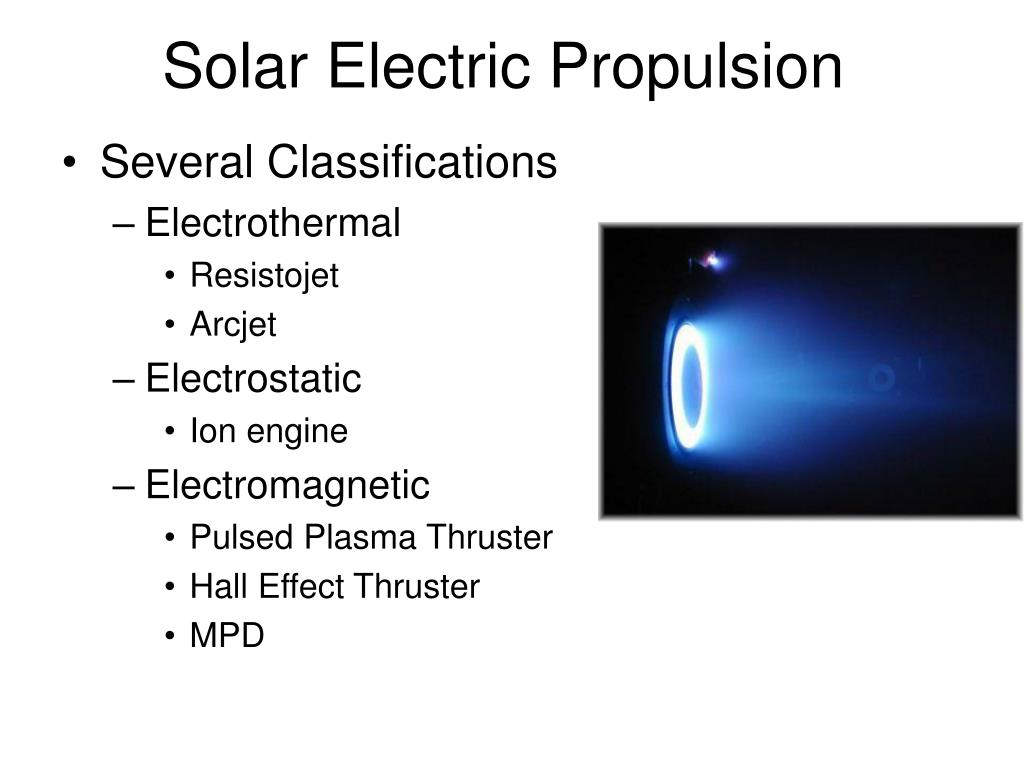 Solar Electric Propulsion