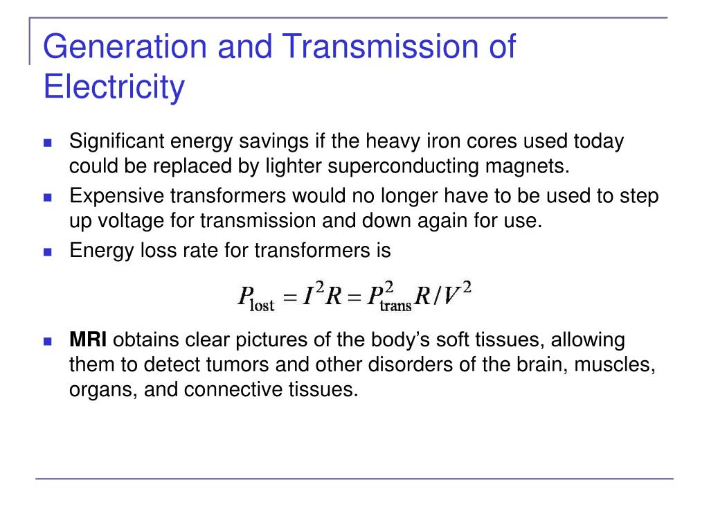 Generation and Transmission of Electricity