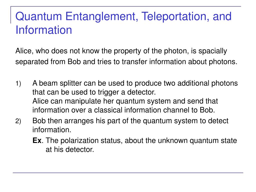 Quantum Entanglement, Teleportation, and Information