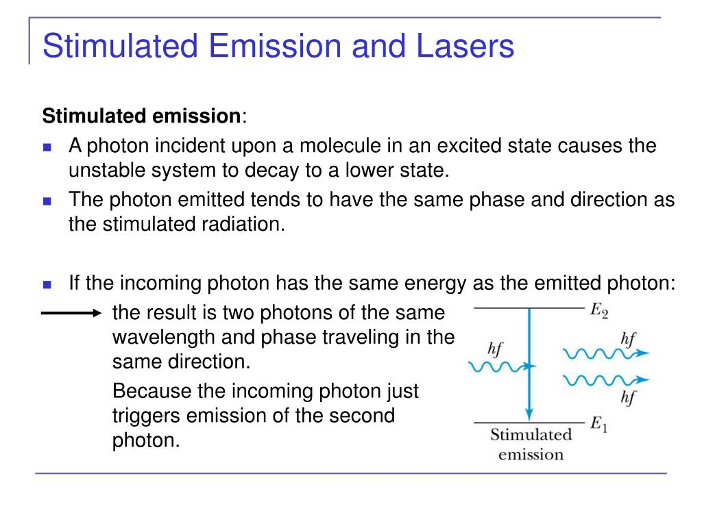 Stimulated Emission and Lasers