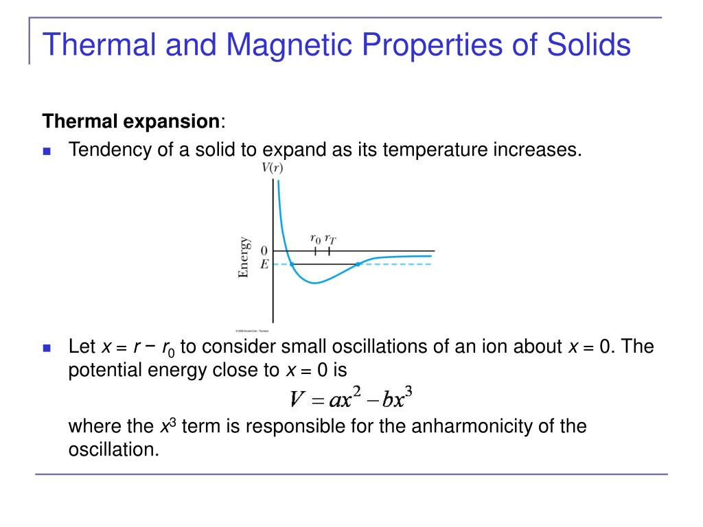 Thermal and Magnetic Properties of Solids