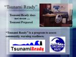 tsunami ready