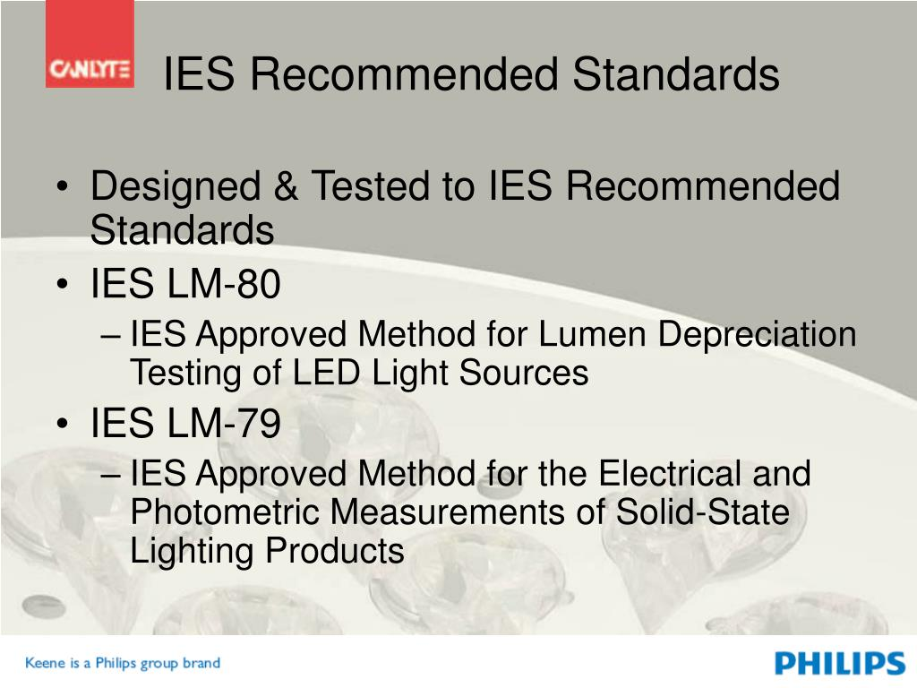 IES Recommended Standards