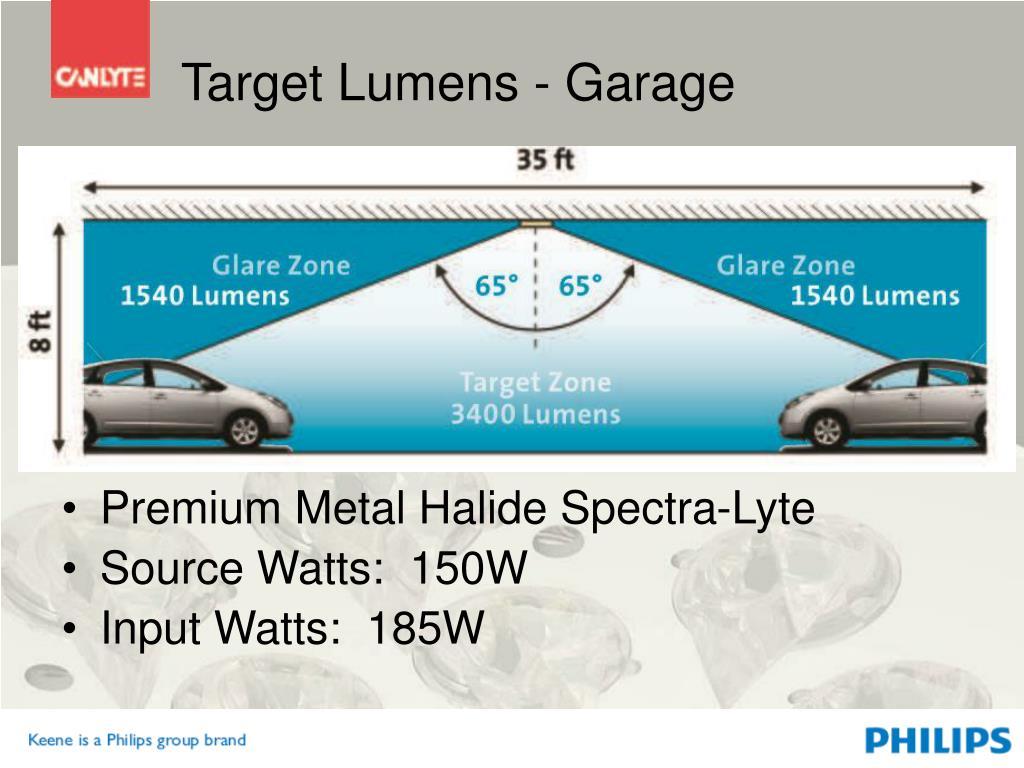 Target Lumens - Garage