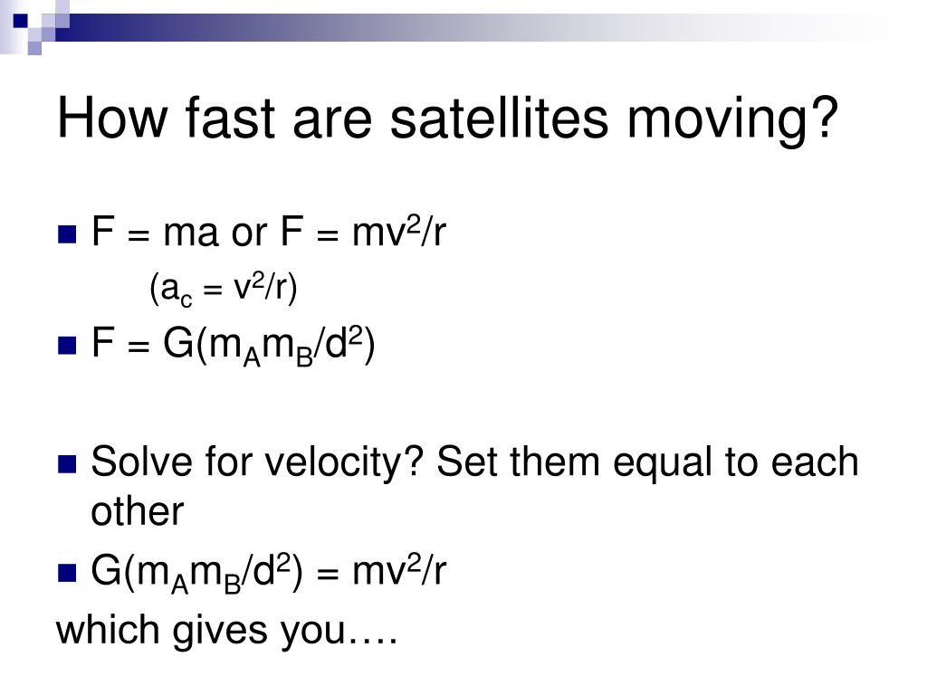 How fast are satellites moving?