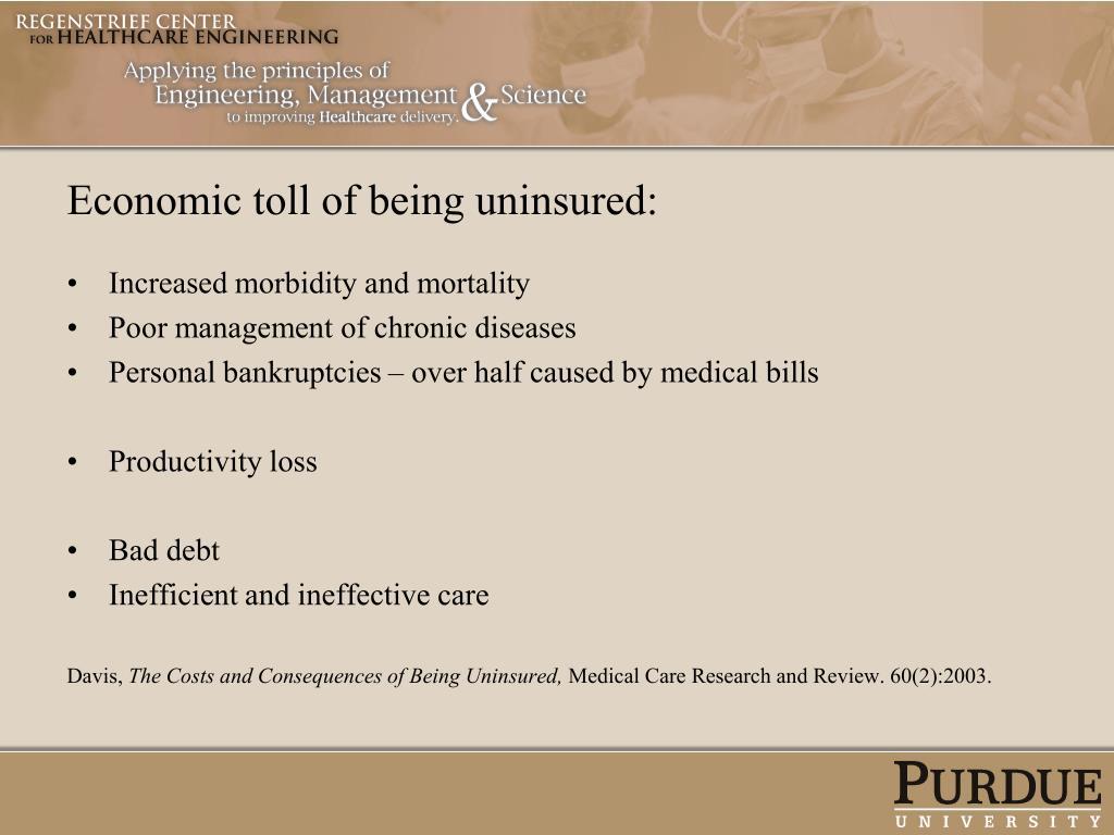 Economic toll of being uninsured: