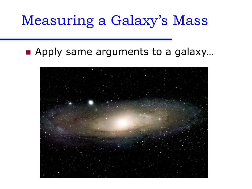 Measuring a Galaxy's Mass