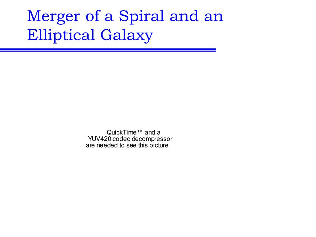 Merger of a Spiral and an Elliptical Galaxy