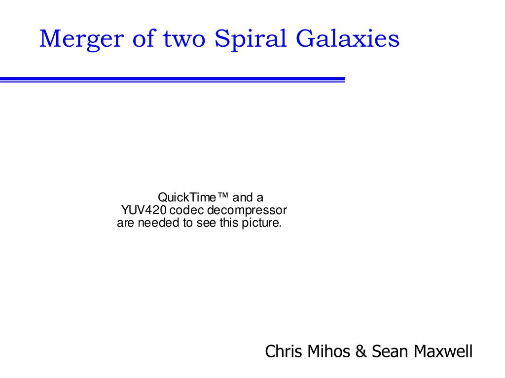 Merger of two Spiral Galaxies