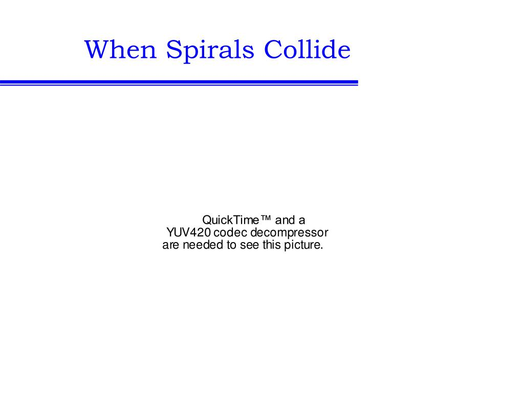 When Spirals Collide