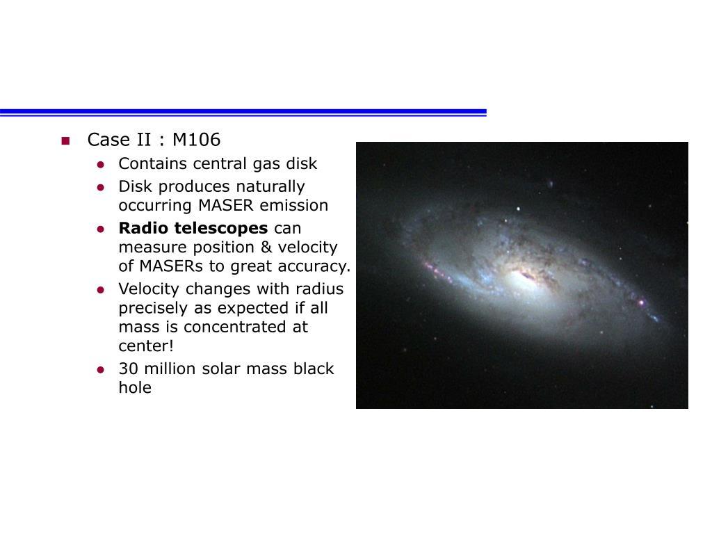 Case II : M106