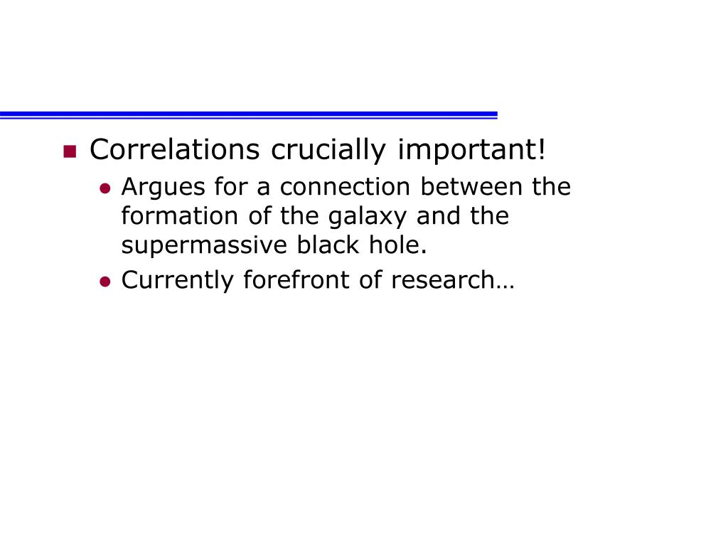 Correlations crucially important!