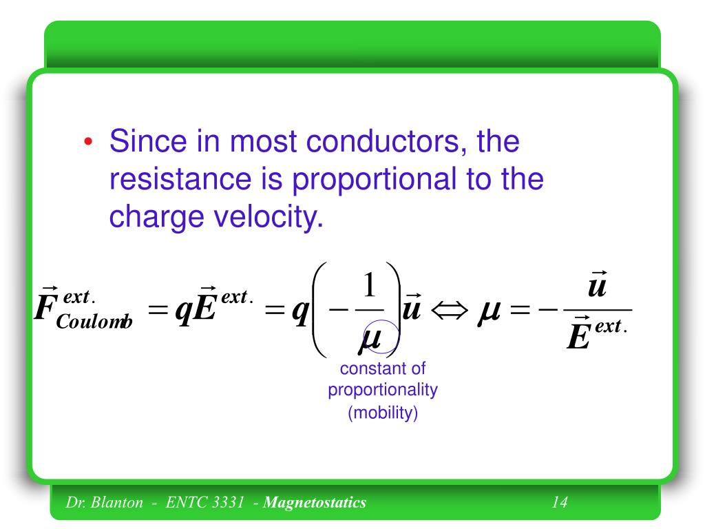 Since in most conductors, the resistance is proportional to the charge velocity.