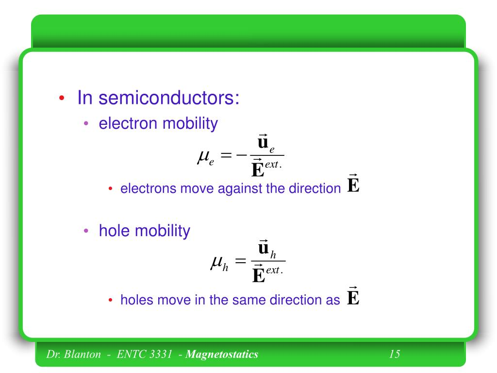 In semiconductors:
