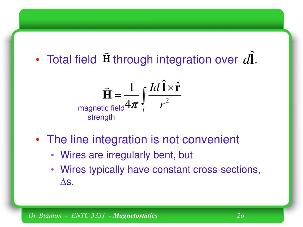 Total field     through integration over     .