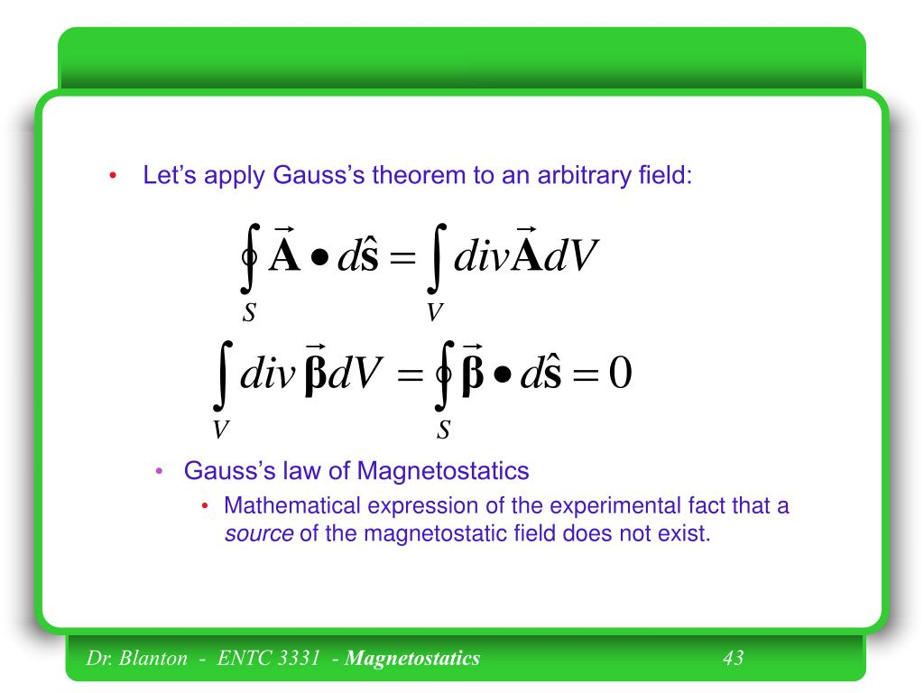 Let's apply Gauss's theorem to an arbitrary field: