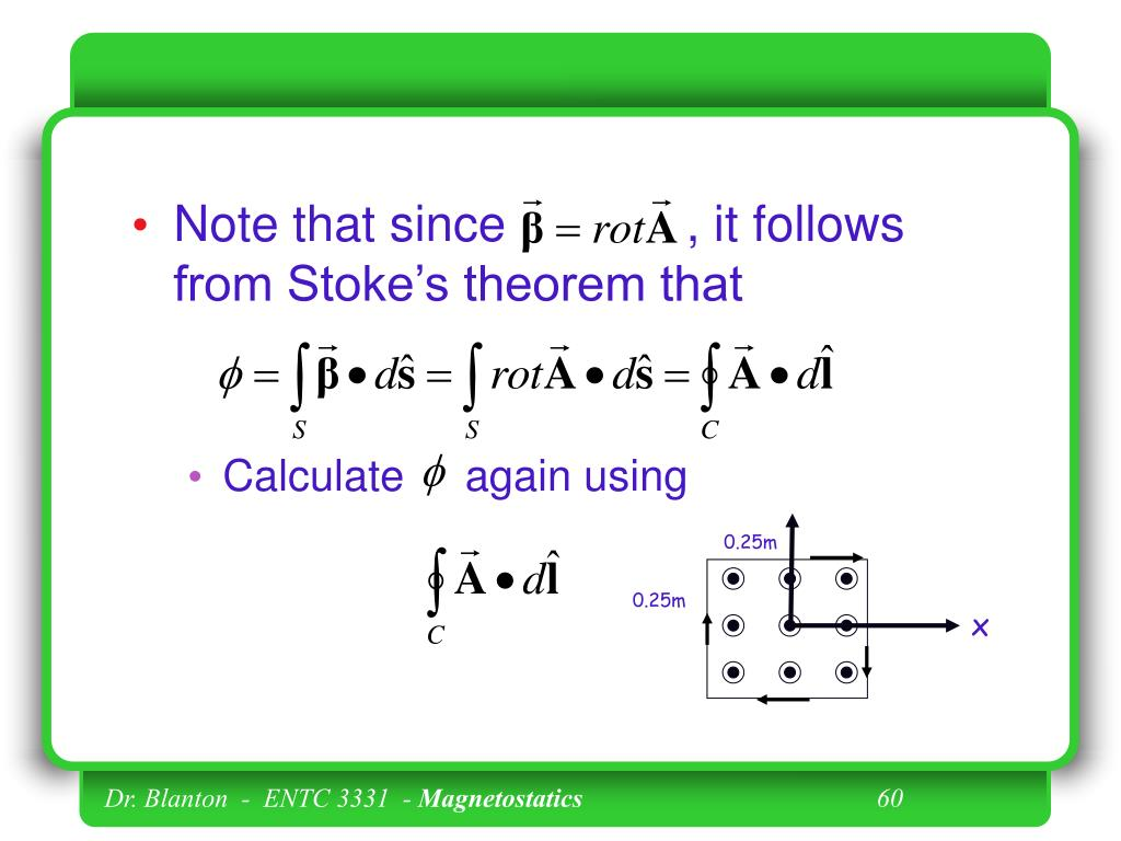 Note that since             , it follows from Stoke's theorem that
