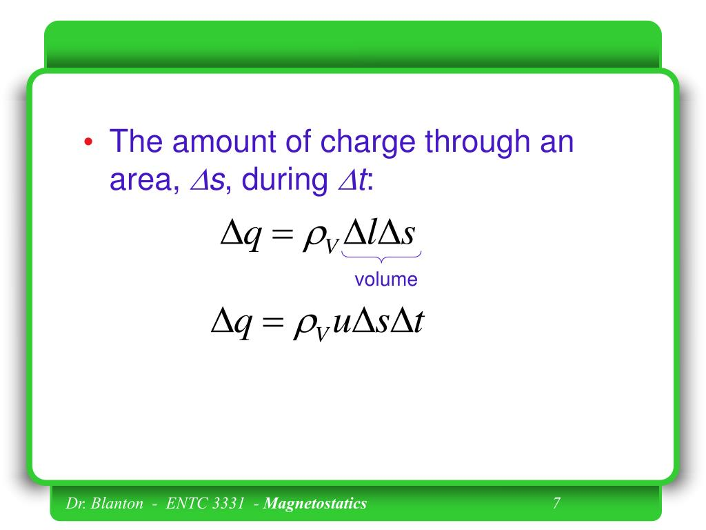 The amount of charge through an area,