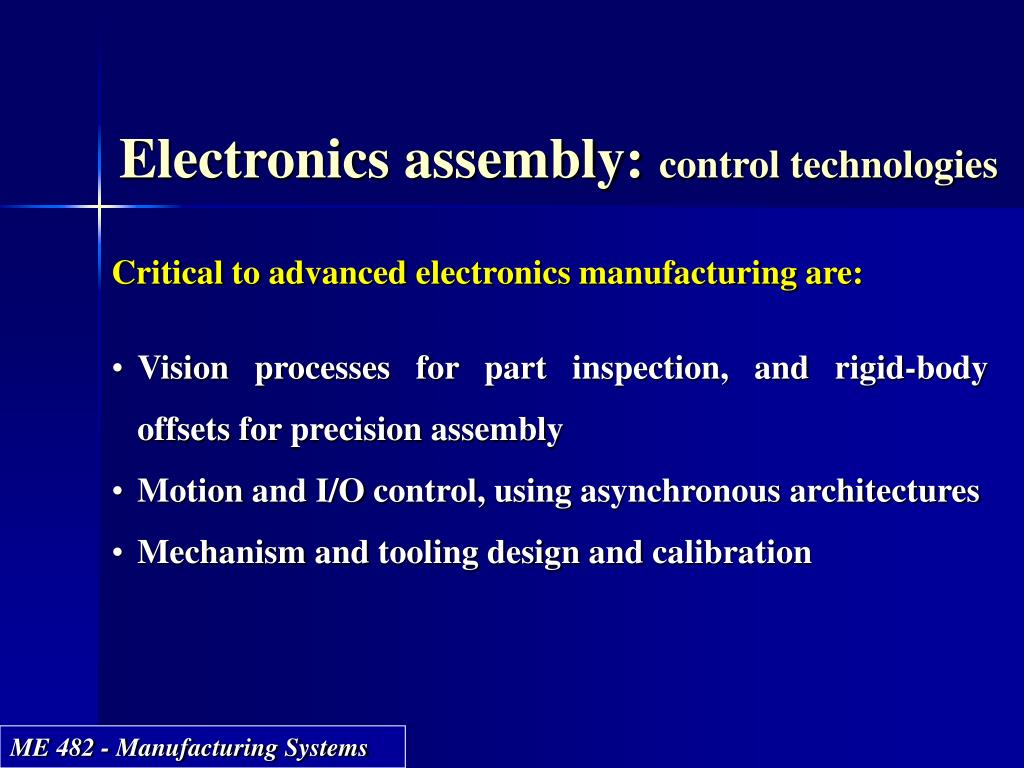 Electronics assembly: