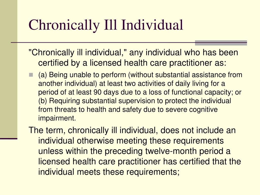 Chronically Ill Individual