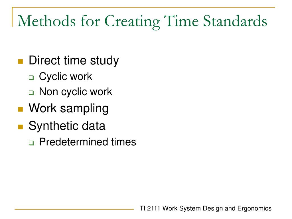 Methods for Creating Time Standards