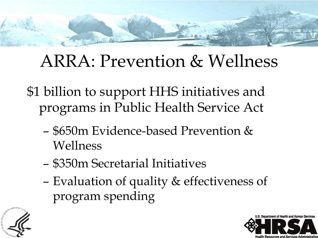 ARRA: Prevention & Wellness